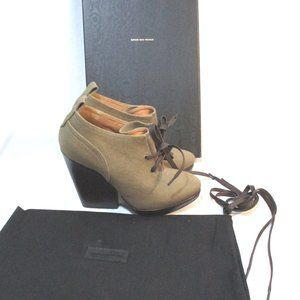 NEW DRIES VAN NOTEN Suede Mini Ankle Bootie Boot